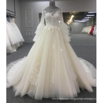 Long sleeve elegant wedding dress bridal gown 2018 WT419