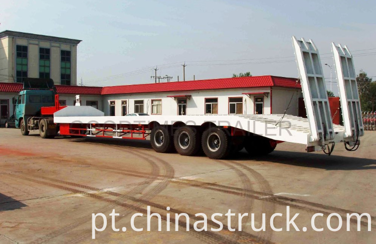 60Ton heavy duty spring ladder low bed trailer picture