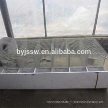 Cage de vison de 8 cellules, cage d'élevage de vison à vendre
