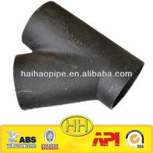 Tuyau latéral ASTM A234 WPB en acier au carbone