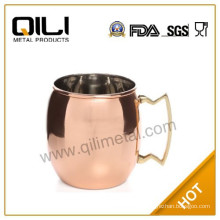 Copper Moscow Mule Mugs with Brass Handle