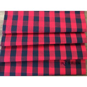 Tessuto classico in cotone scozzese rosso e nero