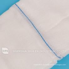 Con CE FDA ISO sertificated algodón 100% algodón pad abdominal, esponja de gasa de vuelta