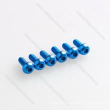 M3 m4 aluminum 7075 button hex head screw