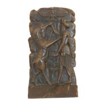 Relief Brass Statue Animal Relievo Wall Deco Bronze Sculpture Tpy-847
