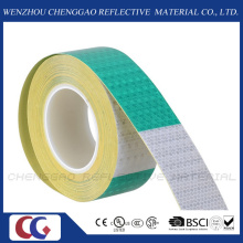 "6"" Green / 6"" White Reflective Safety Caution Warning Tape Stickers (C3500-B(D))"