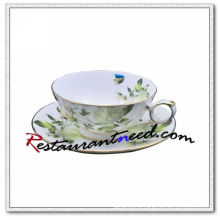 B162 200ml YAMI White Rose Tea Cups & Saucers 2 Set