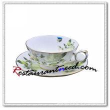 B162 200мл ями белой Розы чайной чашки и блюдца 2 комплекта