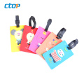 Factory wholesale fashion luggage tag silicone 3d label custom pvc labels rubber tag logo