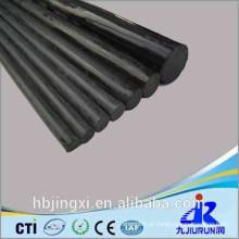 Folha / placa / haste plásticas rígidas pretas do PVC