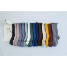 Bequeme verstellbare Manschette Socken einfarbig guter Qualität Mädchenmode Strumpf