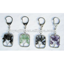 Lucky tree gemstone pendant key chain