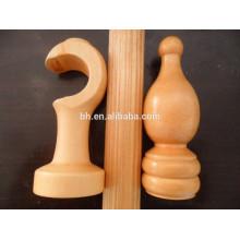 Accessoires modernes en bois pour rideaux en bois pour rideaux finis