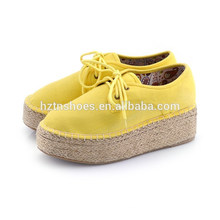 Platform shoes High shoes pure color flat documentary shoes