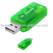 3D Virtual 5.1 Tide Controller USB Sound Card work for windows 7