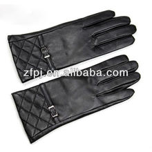 Custom Fashion Brown Winter Gloves Leather for women
