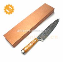 Couteau de cuisine haut de gamme en acier inoxydable damasqué couteau de cuisine couteau chef de cuisine