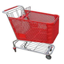 Plastic Shopping Trolley/Shopping Cart/American Style