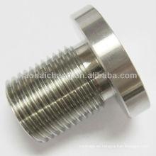 Tornillo de tornillo del acero inoxidable de la pieza del CNC para el tubo de calefacción
