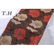 Tissu de sofa de jacquard de 330GSM Chenille avec de belles fleurs