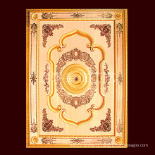 1.4*2m Golden Color Classical PS Artistic Ceiling for Construction