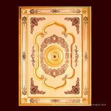 1.4 * 2m Золотой цвет Классический PS Художественный потолок для строительства