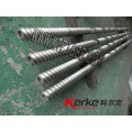 Twin screw extruder auxiliary equipment screw and elements