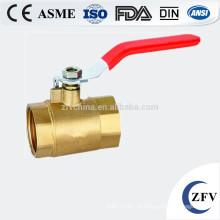 ZFV-BV-15 ~ 25 3/4 de polegada válvula de esfera threadedbrass