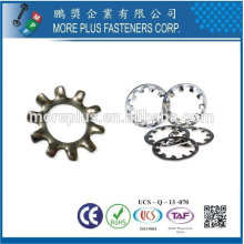 Taiwan Stainless Steel 18-8 Copper Brass Aluminum Tooth Lock Washer Type Of Lock Washers Star Lock Washer