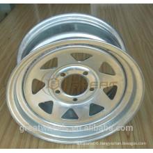Trailer used galvanized steel wheels