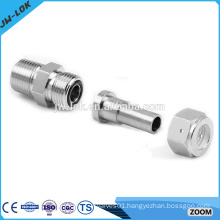 Stainless steel o-ring boss tube fitting