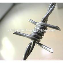 China fábrica de alta calidad galvanizada barbed wie / razor alambre de púas