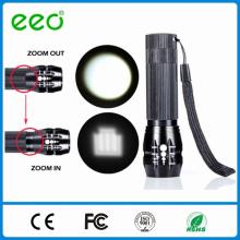 Zoom Lampe de poche, zoom torche à lampe de poche, lampe de poche à gradateur de zoom