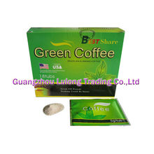 Best Share Green Coffee / Nature Slimming Coffee For Burning Fat, Body Diet 18 Tubs Per Box Per Box