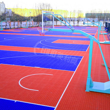 Outdoor-Basketballplatz Bodenbelag Fliesen