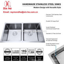 Handmade Stainless Steel Double Bowl Kitchen Sink, cUpc Handmade Kitchen Sink