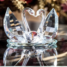 Hermoso cisne de cristal para regalo de boda
