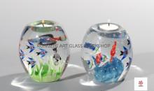 Submarine World Glass Candleholders