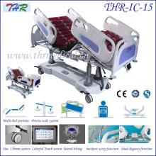 Lit d'hôpital multifonction électrique professionnel ICU (THR-IC-15)