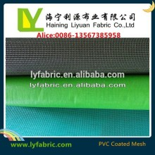 PVC coated polyester mesh fabric for safety fencing