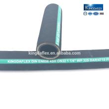 manguera hidráulica de alta resistencia a la manguera de goma de acero manguera de aceite negro
