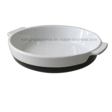 Ensemble de cuisson en porcelaine avec poignée