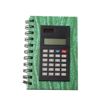 8 Digits Dual Power PU Material Notebook Calculator
