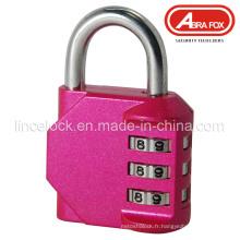 Combinaison de cadenas, verrouillage de code, cadenas de combinaison en alliage de zinc (508)