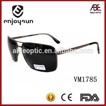 black color double bridge Italian brand sunglasses