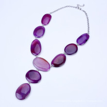 New Purple Color Stone Tassel Jewelry