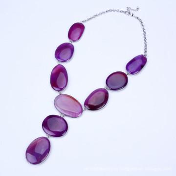Новый фиолетовый цвет камень кисточкой ювелирные изделия