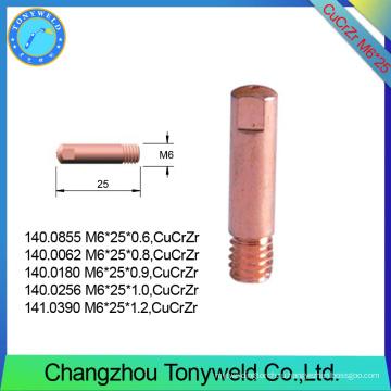 15AK binzel в Cucrzr М6*25 контактный наконечник