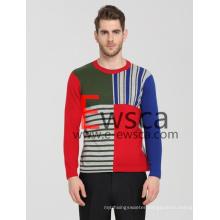 Men′s Color Patterns Pure Cashmere Sweater