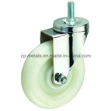 Roda de rodízio branca de tamanho médio PP